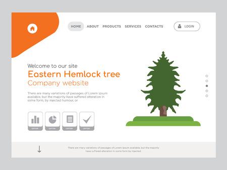 Quality One Page Eastern Hemlock tree Website Template