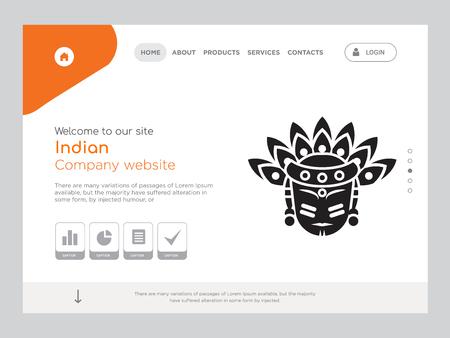Plantilla de sitio web indio de una página de calidad