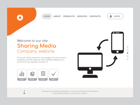 Quality One Page Sharing Media Website Template