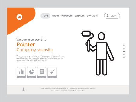 Quality One Page Painter Website Template