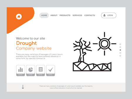 Quality One Page Drought Website Template