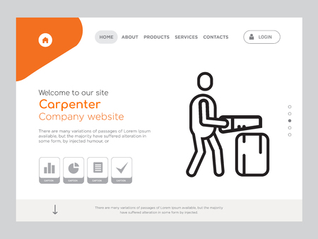 Quality One Page Carpenter Website Template