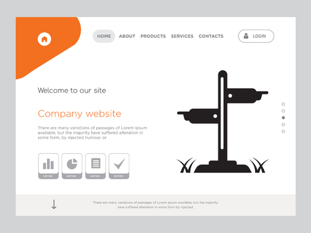 Quality One Page signboard Website Template
