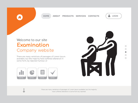Quality One Page Examination Website Template