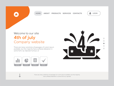 Quality One Page 4th of july Website Template
