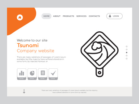 Quality One Page Tsunami Website Template