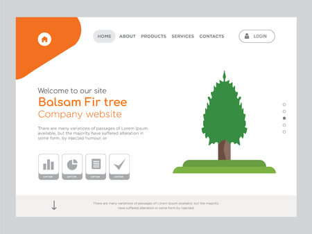 Quality One Page Balsam Fir tree Website Template