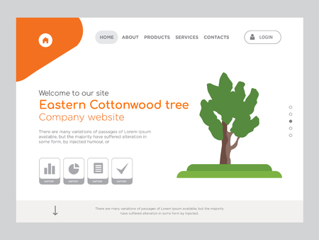 Quality One Page Eastern Cottonwood tree Website Template