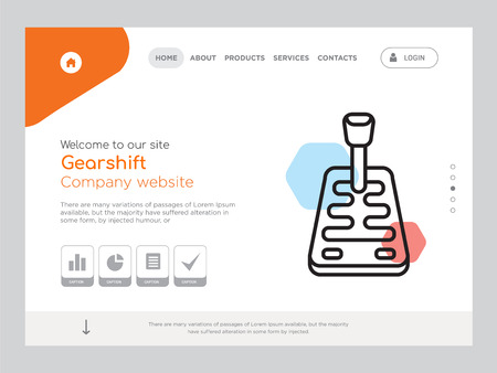 Quality One Page Gearshift Website Template