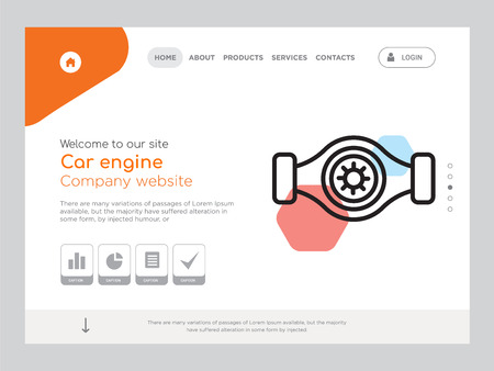 Quality One Page Car engine Website Template