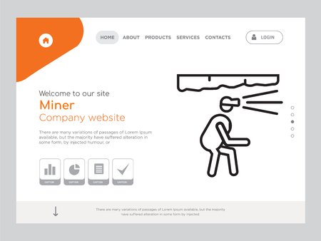 Quality One Page Miner Website Template