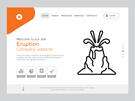 Quality One Page Eruption Website Template Foto de archivo - 104948024