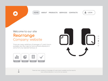 Quality One Page Rearrange Website Template