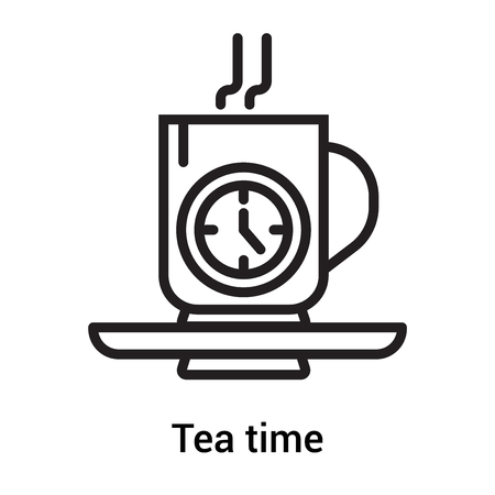 Tea time icon vector isolated on white background for your web and mobile app design, Tea time  concept