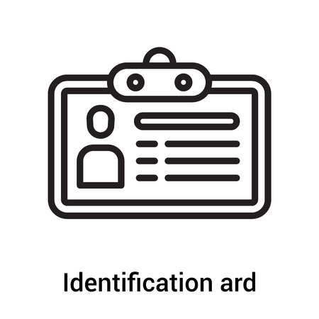 Identification ard icon vector isolated on white background for your web and mobile app design, Identification and  concept Illustration