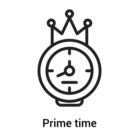 Prime time icon vector isolated on white background for your web and mobile app design, Prime time concept