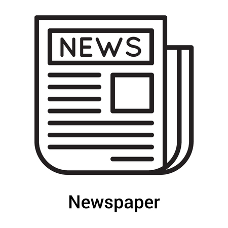 Newspaper icon vector isolated on white background for your web and mobile app design, Newspaper concept Ilustrace