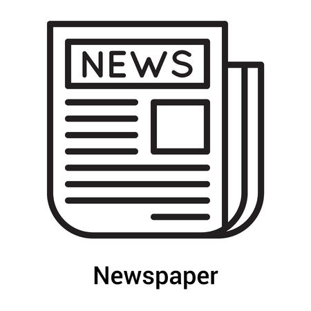 Vector icono de periódico aislado sobre fondo blanco para su diseño web y aplicaciones móviles, concepto de periódico