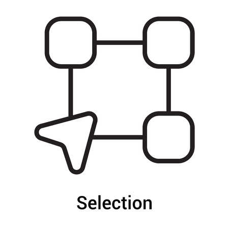 Selection icon vector isolated on white background for your web and mobile app design