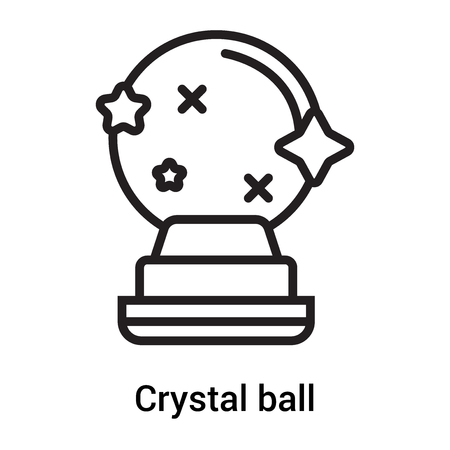 Crystal ball icon vector isolated on white background for your web and mobile app design, Crystal ball logo concept Vettoriali
