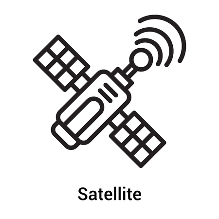 Satellite icon vector isolated on white background for your web and mobile app design, Satellite logo concept Logo