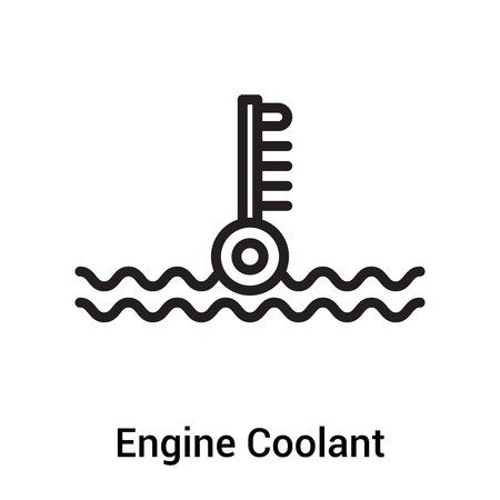 Icona del liquido di raffreddamento del motore vettoriale isolato su sfondo bianco per il vostro web e progettazione di app per dispositivi mobili, concetto di marchio del liquido di raffreddamento del motore