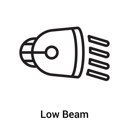 Low Beam icon vector isolated on white background for your web and mobile app design, Low Beam logo concept Logo