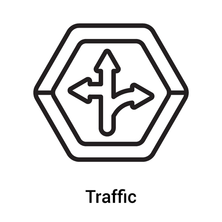 Traffic sign icon vector isolated on white background for your web and mobile app design, Traffic sign logo concept