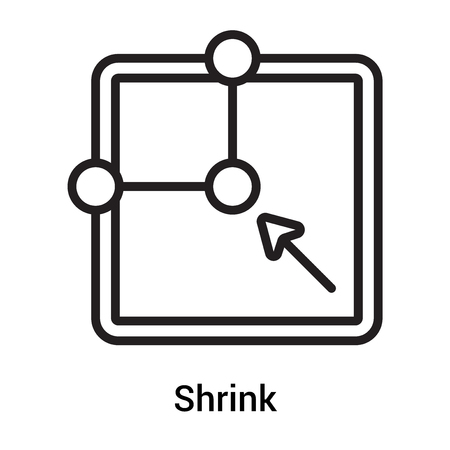 Shrink icon vector isolated on white background for your web and mobile app design, Shrink logo concept Logo