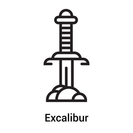 Excalibur icon vector isolated on white background for your web and mobile app design Illustration