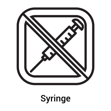 Syringe icon vector isolated on white background for your web and mobile app design Ilustração