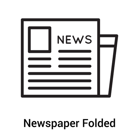 Newspaper Folded icon vector isolated on white background for your web and mobile app design