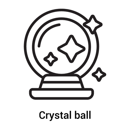 Crystal ball icon vector isolated on white background for your web and mobile app design, Crystal ball concept Ilustrace
