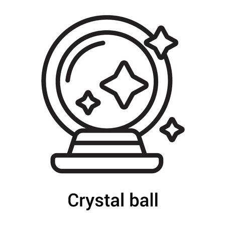 Vector icono de bola de cristal aislado sobre fondo blanco para su diseño web y aplicaciones móviles, concepto de bola de cristal