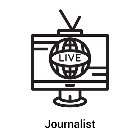 Journalist icon vector isolated on white background for your web and mobile app design