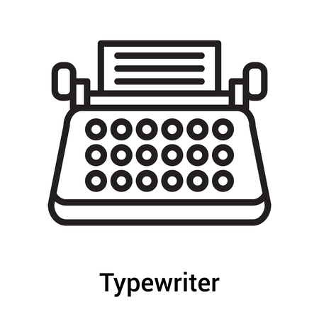 Typewriter icon vector isolated on white background for your web and mobile app design Ilustração Vetorial