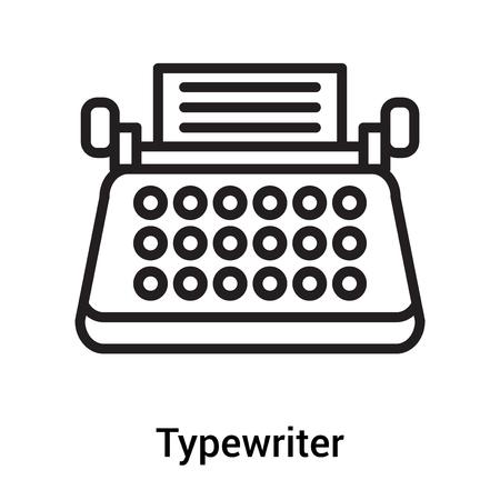 Vector icono de máquina de escribir aislado sobre fondo blanco para su diseño web y aplicaciones móviles Ilustración de vector