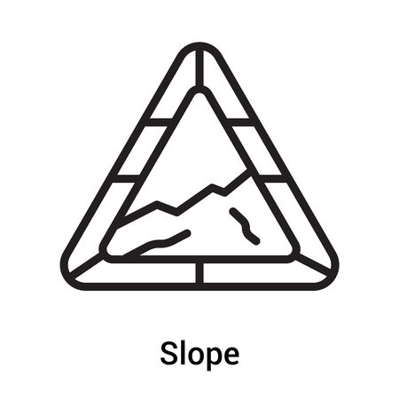 Slope icon vector isolated on white background for your web and mobile app design, Slope icon  concept Stock Illustratie
