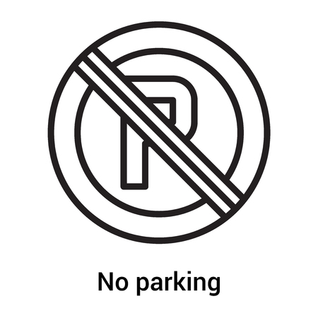No parking icon vector isolated on white background for your web and mobile app design, No parking icon  concept