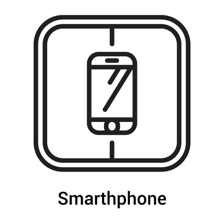 Smarthphone icon vector isolated on white background for your web and mobile app design, Smarthphone icon concept Vectores
