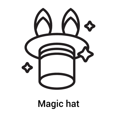 Magic hat icon vector isolated on white background for your web and mobile app design, Magic hat icon concept Illustration