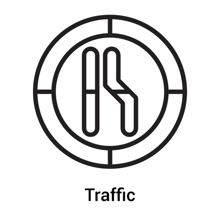 Traffic sign icon vector isolated on white background for your web and mobile app design, Traffic sign icon concept
