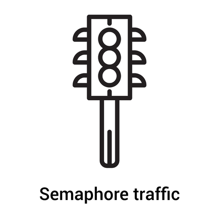 Semaphore traffic lights icon vector isolated on white background for your web and mobile app design, Semaphore traffic lights icon concept