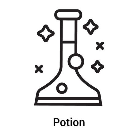 Potion icon vector isolated on white background for your web and mobile app design, Potion icon concept Illustration