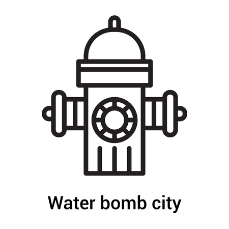 Water bomb city supplier icon vector isolated on white background for your web and mobile app design, Water bomb city supplier icon concept