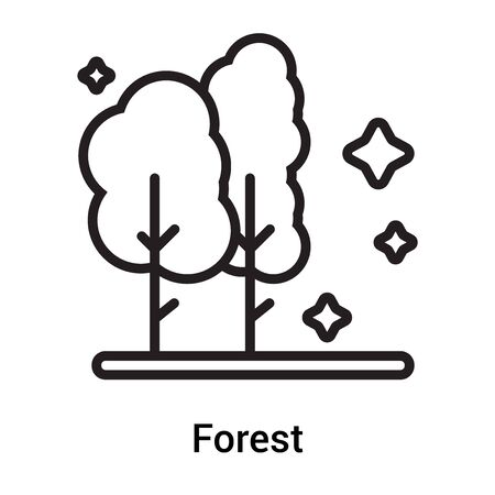 Forest icon vector isolated on white background for your web and mobile app design, Forest icon concept