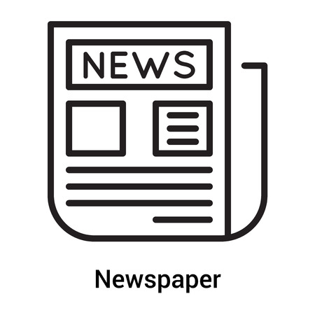 Newspaper icon vector isolated on white background for your web and mobile app design, Newspaper logo concept Illustration