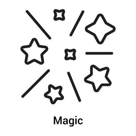 Magic icon vector isolated on white background for your web and mobile app design, Magic logo concept