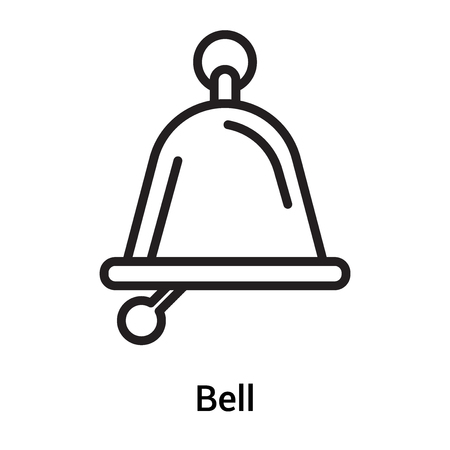 Bell icon vector isolated on white background for your web and mobile app design, Bell logo concept Ilustração