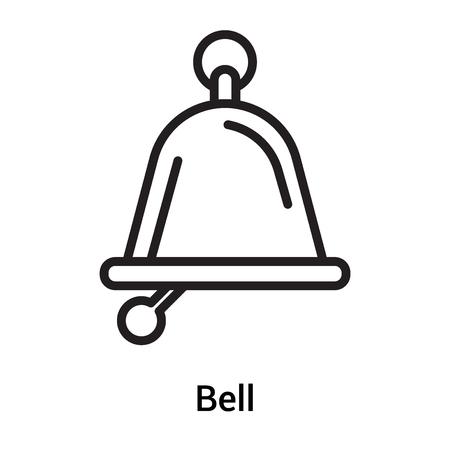 Vecteur d'icône Bell isolé sur fond blanc pour la conception de votre application web et mobile, concept logo Bell